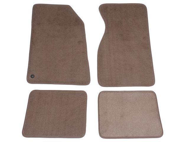 Floor Mats, Carpet, Cut Pile Nylon, Medium Parchment, W/O Logo, Repro, Nibbed Backing For Non-Slip Design