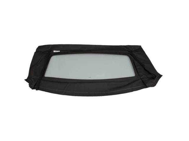 Convertible Rear Window Black W/ Solid Glass Curtain