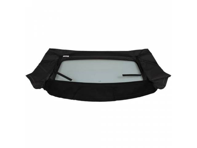 Convertible Rear Window Black Cloth W/ Solid Glass