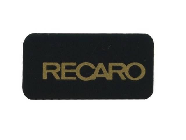 Decal, Pace Car Recaro Seat, Repro This Decal