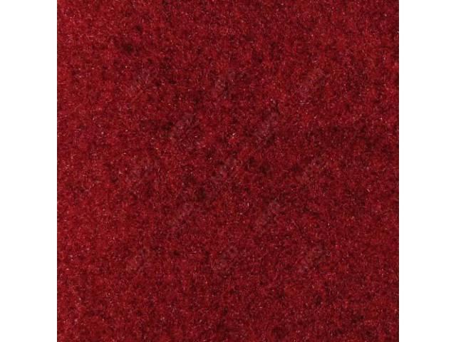 Carpet, Rear Hatch Area, Cut Pile, Medium Red,