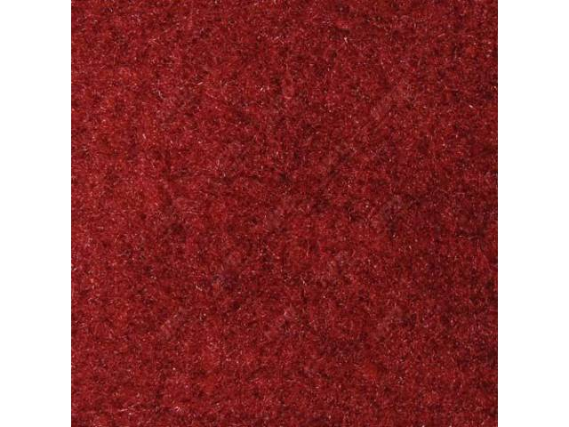 Carpet, Rear Hatch Area, Cut Pile, Scarlet Red,
