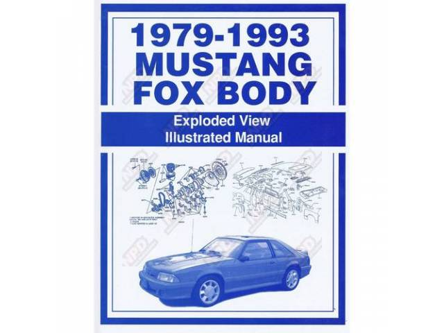 Fox Mustang Exploded View Illustrated Manual 1979 Thru