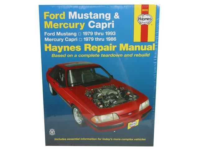 Book, Haynes Workshop Manual 1979-1993 Ford Mustang And