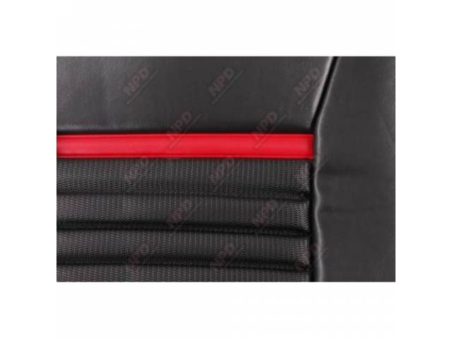 Upholstery Set Mach 1 Style Black Vinyl W/