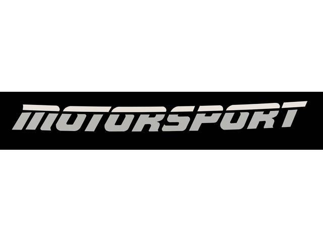 Gray Aero Style MOTORSPORT Windshield Banner Decal