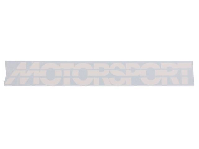White Early Style MOTORSPORT Windshield Banner Decal
