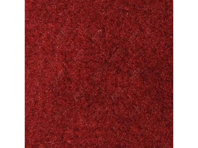 Carpet Quarter Trim Pair Scarlet Red Convertible Models