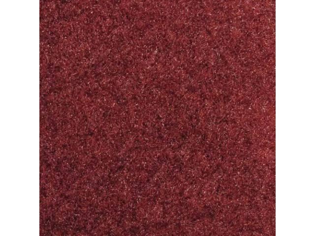 CARPET QUARTER TRIM PAIR CANYON RED CONVERTIBLE MODELS
