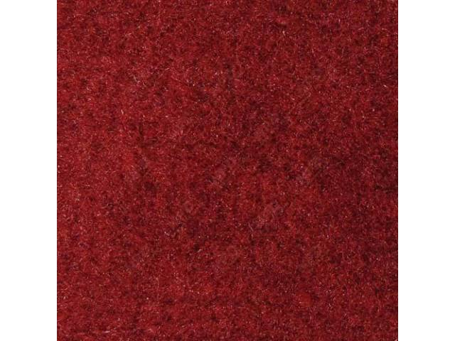 Carpet, Quarter Trim, Pair, Scarlet Red, Convertible Models Only, Incl Rh And Lh Sides, Use General Spray Adhesive To Attach, Repro