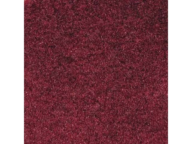 CARPET QUARTER TRIM PAIR RUBY RED CONVERTIBLE MODELS