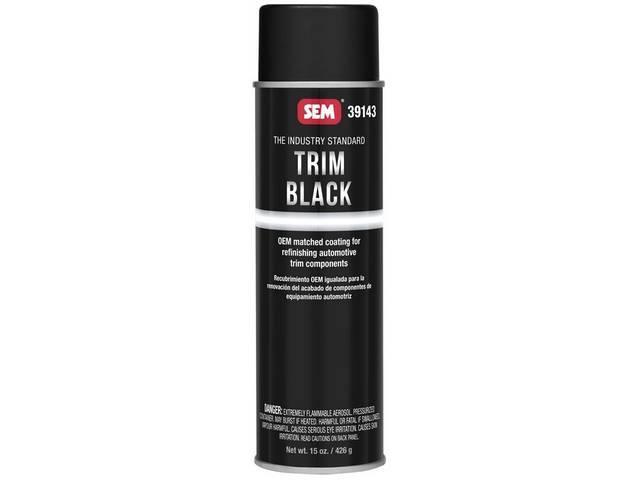 39143 SEM Black Exterior Trim Paint