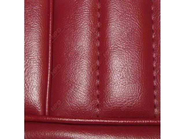 Upholstery Set High Back Buckets Vinyl Medium Red