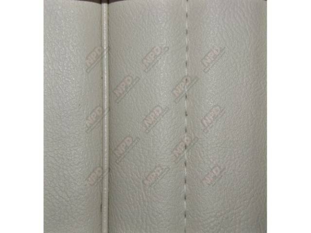 UPHOLSTERY SET HIGH BACK BUCKETS VINYL OPAL WHITE