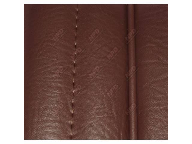Upholstery Set, High Back Buckets, Vinyl, Walnut, W/