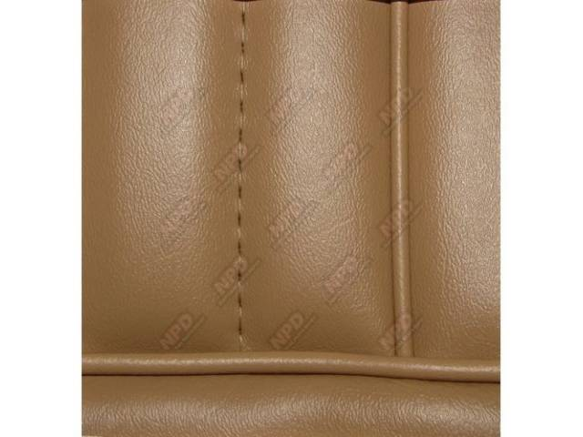 Upholstery Set, High Back Buckets, Vinyl, Desert Tan, W/ Interior Trim Id Code *Ah*, Headrest Are Not Use On These Models