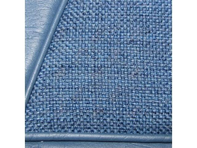 Upholstery Set, Low Back Buckets, Cloth, Wedgewood Blue,