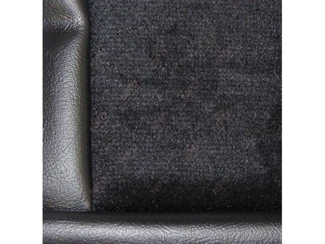 Upholstery Set Low Back Buckets Cloth Black W/