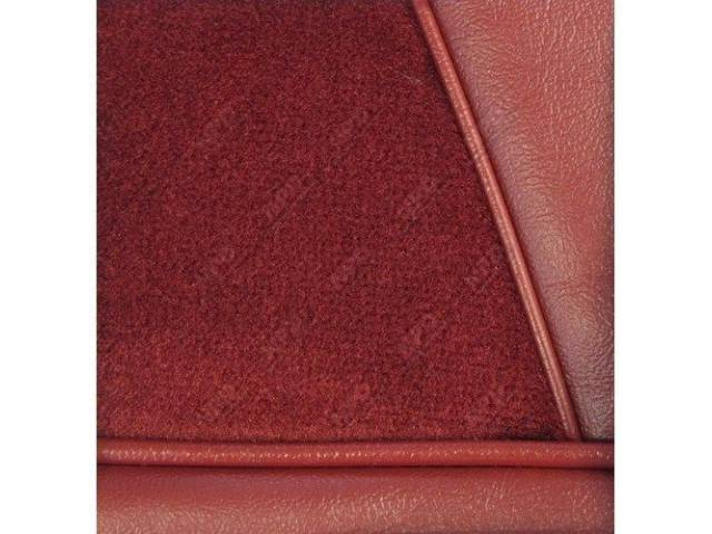 Upholstery Set, Low Back Buckets, Cloth, Medium Red, W/ Interior Trim Id Code *Dd*, Incl Headrest Covers