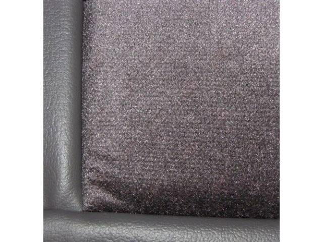 Upholstery Set, Low Back Buckets, Cloth, Charcoal Gray, W/ Interior Trim Id Code *Fa*, Incl Headrest Covers