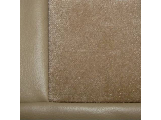 Upholstery Set Low Back Buckets Cloth Sand Beige