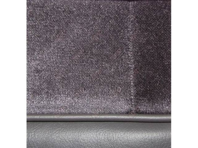 Upholstery Set Low Back Buckets Cloth Charcoal Gray