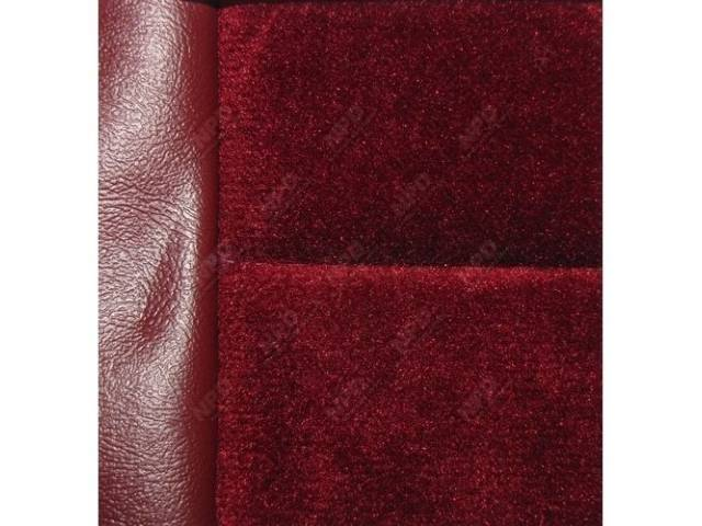 Upholstery Set, Low Back Buckets, Cloth, Canyon Red, W/ Interior Trim Id Code *Fd*, Incl Headrest Covers