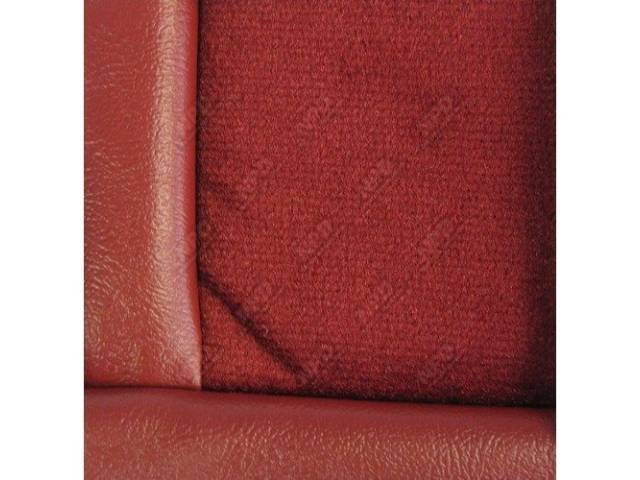 Upholstery Set Low Back Buckets Cloth Scarlet Red