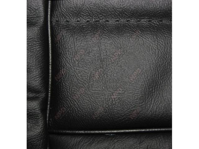 Upholstery Set Low Back Buckets Leather Black W/