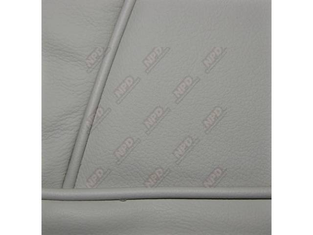 Upholstery Set Low Back Buckets Leather Opal White