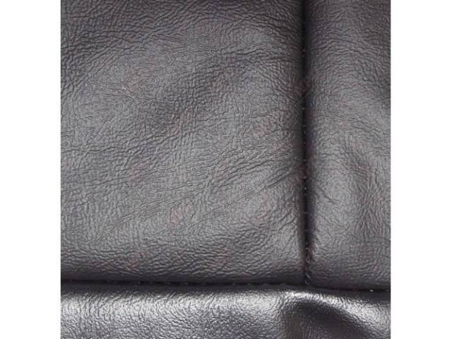 Upholstery Set, Low Back Buckets, Leather, Black, W/ Interior Trim Id Code *Ea*, Incl Headrest Covers