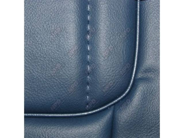 Upholstery Set, Low Back Buckets, Vinyl, Wedgewood Blue, W/ Interior Trim Id Code *Db*, Incl Headrest Covers