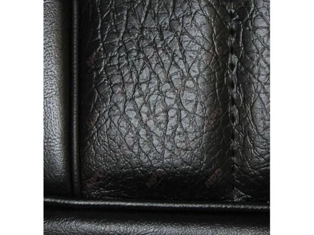 Upholstery Set, Low Back Buckets, Vinyl, Black, W/