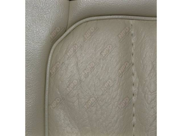 Upholstery Set, Low Back Buckets, Vinyl, White, W/ Interior Trim Id Code *Sw*, *Sn*, *Sq*, *S2*, *S9*, Incl Headrest Covers