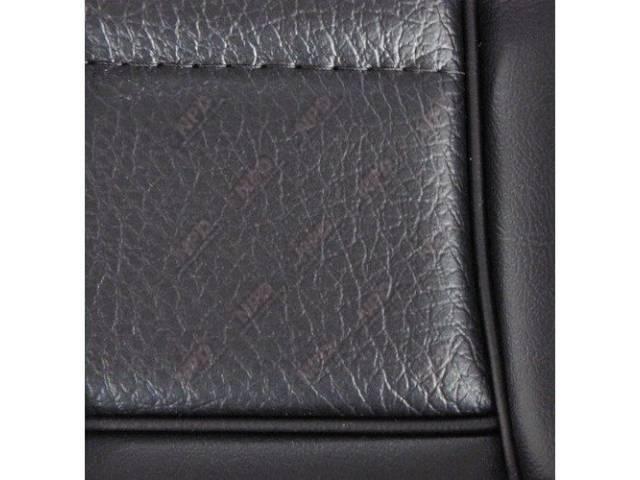 Upholstery Set Low Back Buckets Vinyl Black W/
