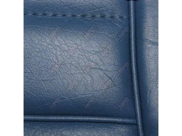 Upholstery Set Low Back Buckets Vinyl Wedgewood Blue