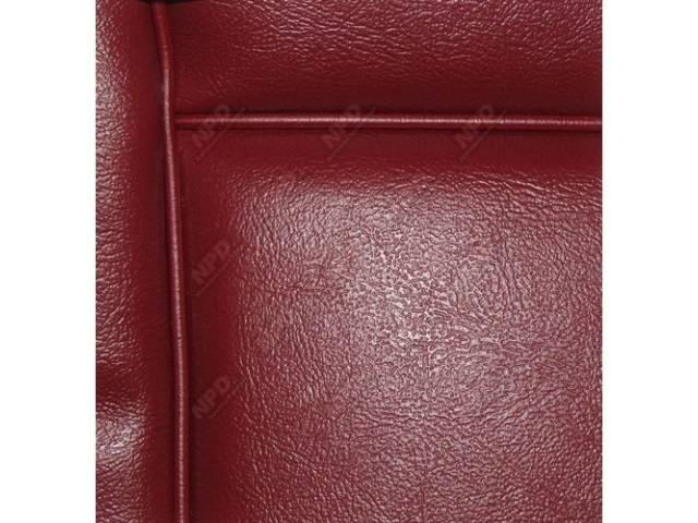 Upholstery Set Low Back Buckets Vinyl Medium Red