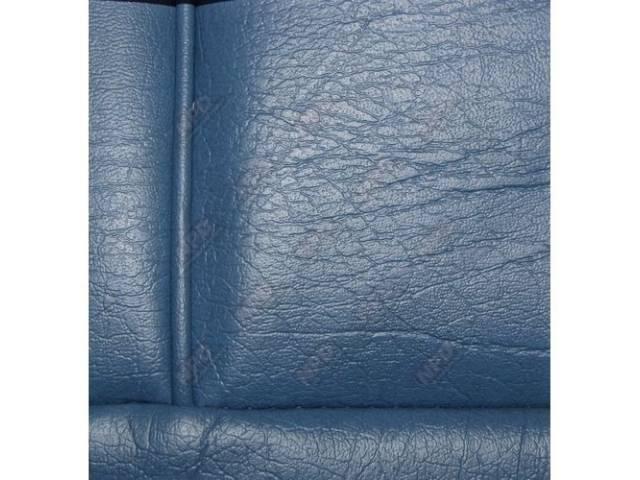 Upholstery Set, Low Back Buckets, Vinyl, Wedgewood Blue,