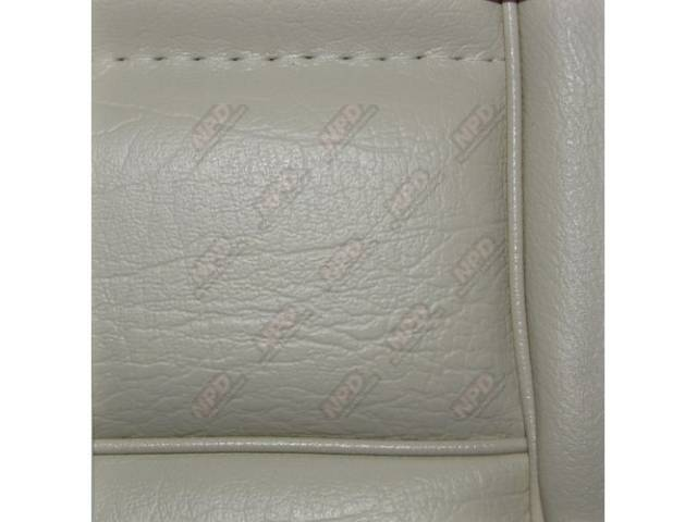 Upholstery Set, Low Back Buckets, Vinyl, Opal White,