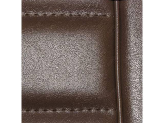 Upholstery Set Low Back Buckets Vinyl Walnut W/