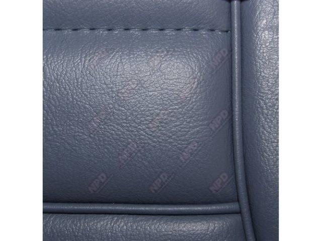 Upholstery Set Low Back Buckets Vinyl Academy Blue