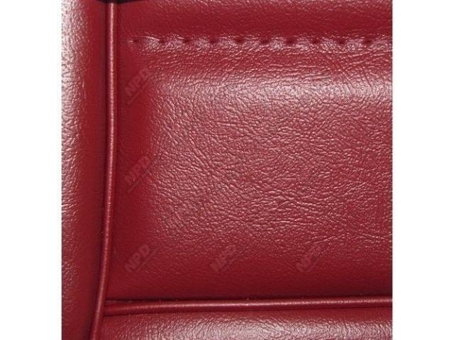 Upholstery Set Low Back Buckets Vinyl Canyon Red
