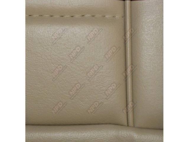 Upholstery Set Low Back Buckets Vinyl Sand Beige