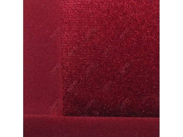 Upholstery Set Articulated Sport Buckets Cloth Medium Red