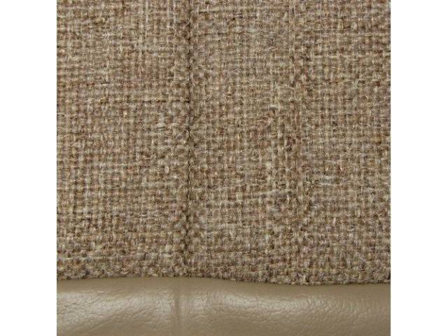 Upholstery Set Articulated Sport Buckets Cloth Sand Beige