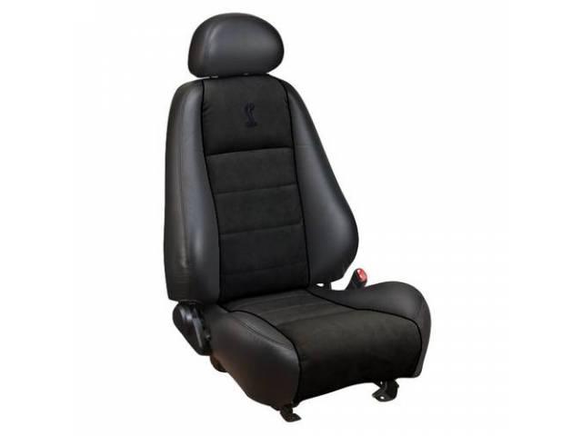 Upholstery Set, Cobra Sport Buckets, Repro Style, Leather,