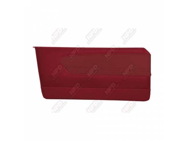 DOOR PANELS Sport Deluxe red custom design full