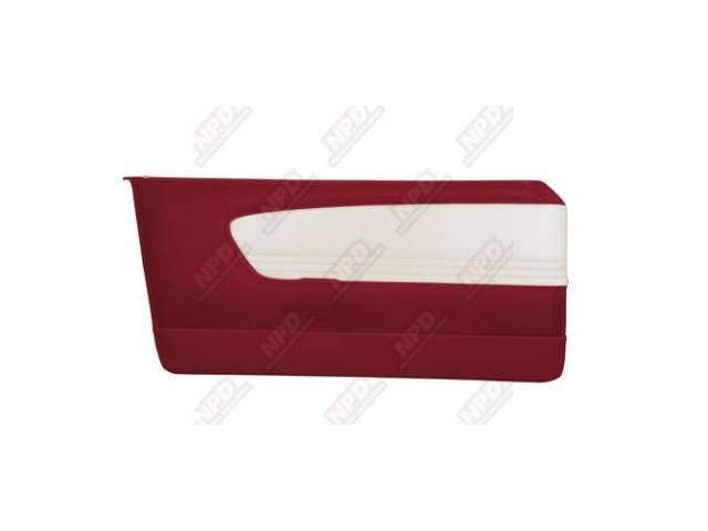 DOOR PANELS Sport Deluxe red and white custom