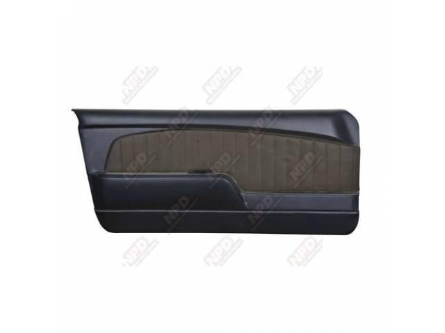DOOR PANELS Sport Deluxe black w/ brushed aluminum