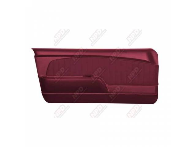 DOOR PANELS Sport Deluxe maroon custom design full